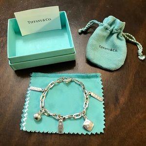 Tiffany & Co. rare, retired 1837 charm bracelet